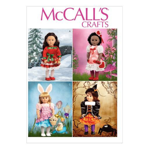 Holiday Clothes and Accessories for 18 Doll-One Size Only *SEWING PATTERN* 2LVASEDIEMHRPI6J