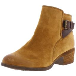 Comfortiva Womens Creston Suede Stacked Ankle Boots