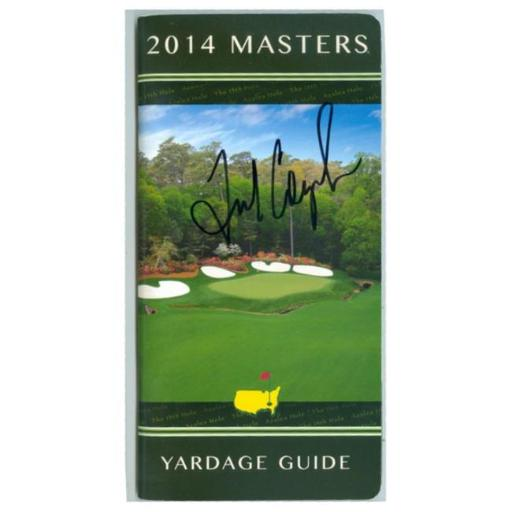 Autograph Warehouse 365344 Fred Couples Autographed Yardage Guide Augusta National Golf Club 2014 Masters No. SC1