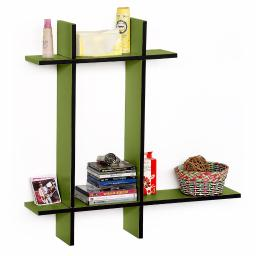 Secret Garden-BLeather Cross Type Shelve / Book Shelve / Floating Shelve 4 pcs