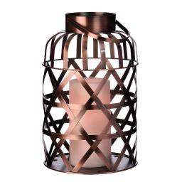 Paradise Gl39046 Cross Weave Flameless Lantern, 8.07""