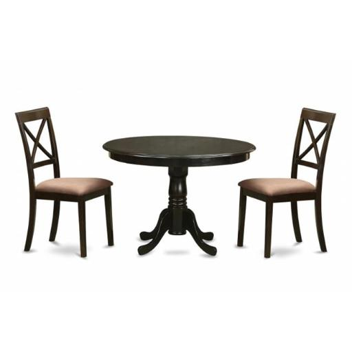 East West Furniture ANBO3-CAP-C 3 Piece Kitchen Table Set-Small Kitchen Table Plus 2 Dining Chairs