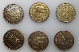 Game Of Thrones Set of Half Pennies HBO Stark Lannister Targaryen Baratheon
