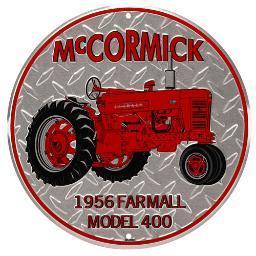 Mccormick 90172391s open road brands emb tin sign mccormick tractor rnd 12x12