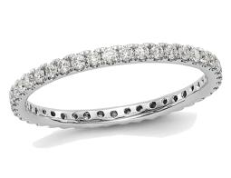 Ladies 1/2 Carat (ctw Color H-I, SI2-I1) Diamond Eternity Wedding Band in 14K White Gold