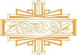 """Ultimate Crafts The Ritz Hotfoil Plate 3.1""""X2.2"""" Art Deco Tag"""