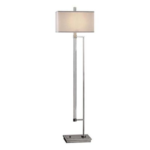 Uttermost 28134 Mannan Modern Floor Lamp - Iron, Acrylic & Linen