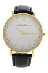 andreas-osten-ao-103-klassisk-gold-black-leather-strap-with-blue-white-red-nylon-strap-watch-watch-for-men-bdztfk0ghdg1swb5