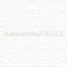 "Alexandra Renke Travel Design Paper 12""x12""-gold Europe Typo"
