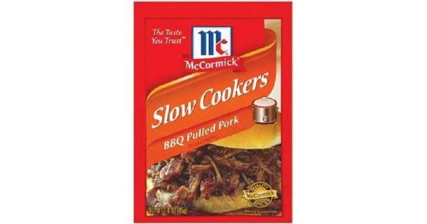 McCormick Slow Cookers BBQ Pulled Pork Seasoning Mix 1.6 oz Packet .McCormick Slow Cookers BBQ Pulled Pork Seasoning Mix.1.6 oz Packet.Expiration Date Always Fresh.
