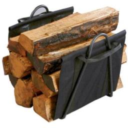 Panacea 15216 Black Fireplace Log Tote With Steel Stand