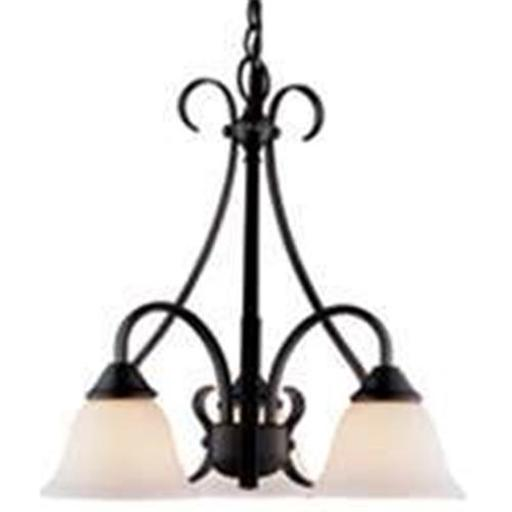 BOSTON HARBOR F3-3C3L FIXTURE CHANDELIER 3LT MAT BLK Finish=Matte Black