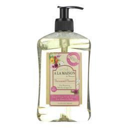 A La Maison French Liquid Soap - Thousand Flowers - 8.8 Fl Oz