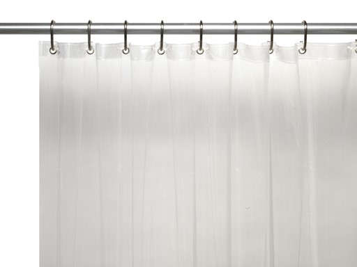 American crafts Jumbo Long Vinyl Shower Curtain Liner With Metal Grommets - Super Clear - 72