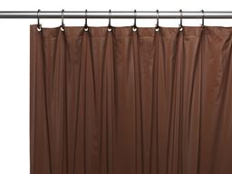 "American crafts 8 Gauge ""Hotel Collection"" Vinyl Shower Curtain Liner With Metal Grommets - Brown - 72"" X 72"""