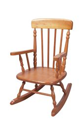 Gift Mark Deluxe Child's Spindle Rocking Chair - Honey