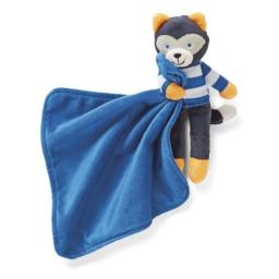 Carter's Blue Plush Raccoon Rattle Security Blanket