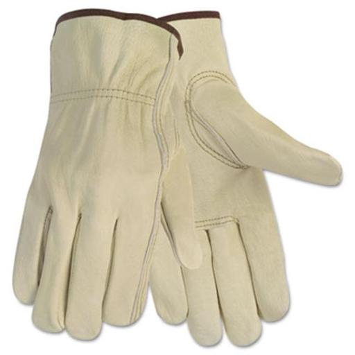 Crews 3215L Economy Leather Driver Gloves Large Cream