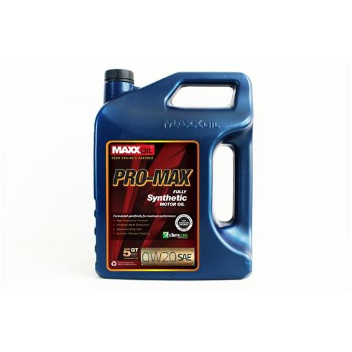 Maxx Oil PM-0W20-5Q Pro Max 0W20 Fully Synthetic Motor Oil - 5 qt