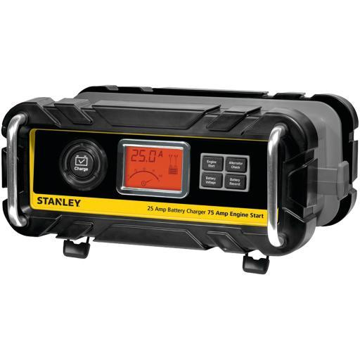 Stanley bc25bs battery charger/maintainer with engine start (25-amp charger, 75-amp starter)