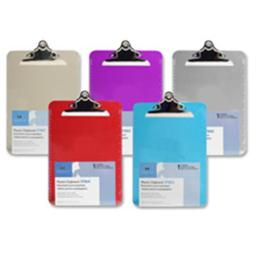 Sparco Products SPR01862 Transparent Plastic Clipboard- 9in.x12-.50in.- Violet