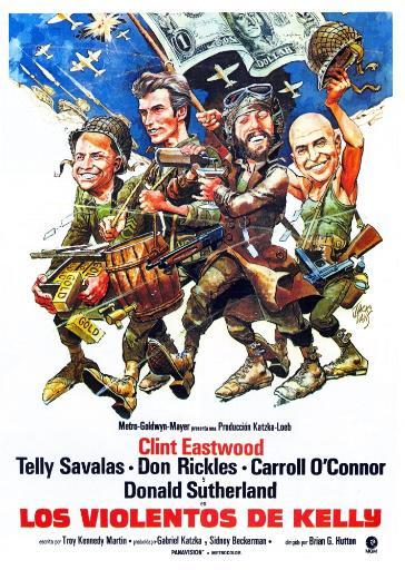 Kelly'S Heroes Poster Illustrated By Jack Davis From Left: Don Rickles Clint Eastwood Donald Sutherland Telly Savalas 1970 Movie Poster Masterprint
