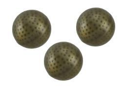 3 Piece Brushed Bronze Finish Dimpled Metal Decor Ball Set 4 Inch