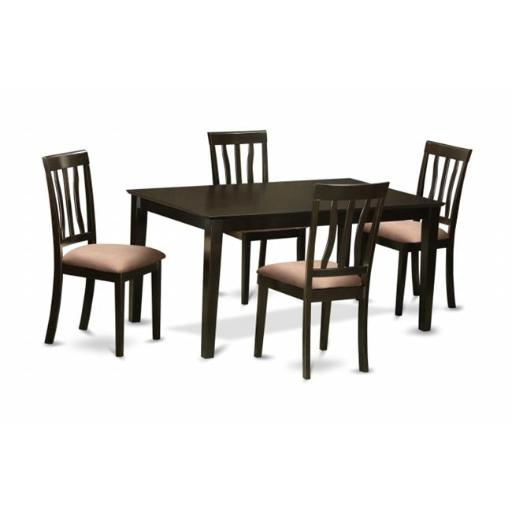 East West Furniture CAAN5-CAP-C 5 Piece Dining Room Table Set-Table and 4 Dining Room Chair
