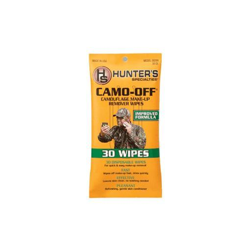HUNTERS SPECIALTIES 00299 HS FACE PAINT REMOVER PADS CAMO-OFF 30PK