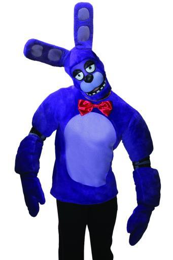 Bonnie Adult/Teen Costume Five Nights At Freddy's Plush top Mitts and Mask Game