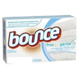 Bounce Dryer Sheets Free & Gentle Fabric Softener 80 Ct Box