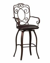 Linon Crested Back Bar Stool 30