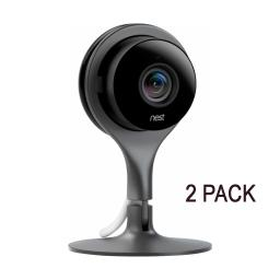 2-Pack Nest Cam Indoor 1080p HD Video Home Security Camera NC1102ES - Black