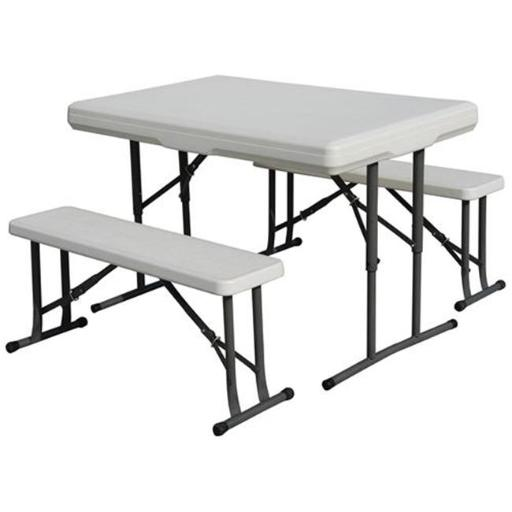 Outdoor Heavy Duty Picnic Table & Bench Set