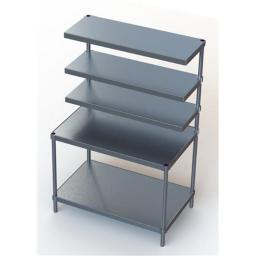 Prairie View N2435.548-2-18CANT3 3 Cantilever Shelves Delivery Stations, 72 x 24 x 48 in.