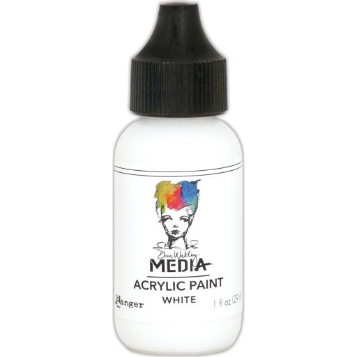 Dina Wakley Media Heavy Body Acrylic Paint 1Oz-White