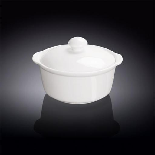 Wilmax 991141 300 ml Soup Cup with Lid, White - Pack of 36