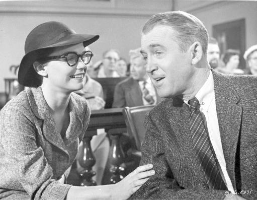 Anatomy Of A Murder Man Talking Happily to a Woman in a Movie Scene in Black and White Photo Print