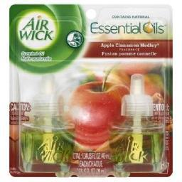 Air Wick Scented Oil Twin Refill Relaxation Apple Cinnamon Medley Scent
