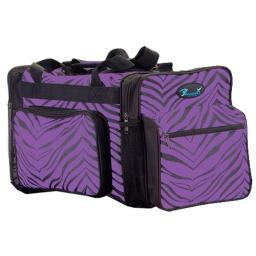 Pizzazz Performance Wear B200AP -PUR -L B200AP Zebra Print Multi-Sport Bag - Purple - Large