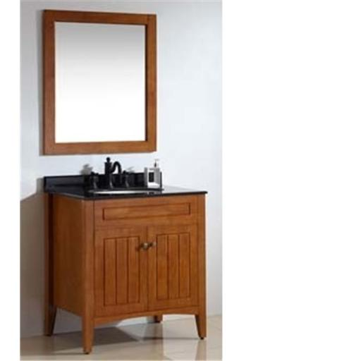 Dawn Kitchen RAM280133-03 Solid Wood And Plywood Frame Amber Red Finish Mirror