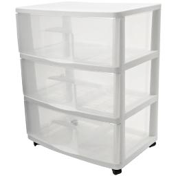 Home products 5533.01 large three drawer cart      c