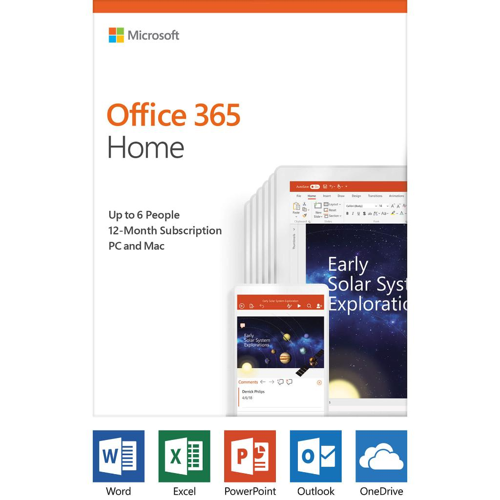 Microsoft 6GQ01028 Office 365 HOME (1 Year Subscription)