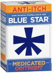 Blue Star Anti-itch Medicated Ointment - 2 Oz, Pack Of 4