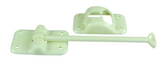 Jr Products 10454 6 Inch Colonial White Plastic T-Style Door Holder