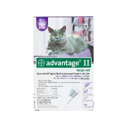 Advantage Purple-20-4 Advantage Flea Control For Cats And Kittens Over 9 Lbs 4 Month Supply