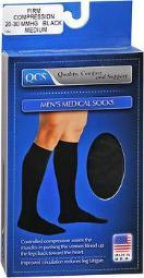 QCS Men's Medical Legwear Firm Black Medium - 1 pair SC1662BLA-MD