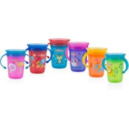 DDI 2276634 Nuby? No-Spill 2-Handle 360 Printed Wonder Cup Case of 12