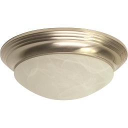 ROYAL COVE DECORATIVE FLUSH MOUNT CEILING FIXTURE, BRUSHED NICKEL, 14 X 5 563116 563116