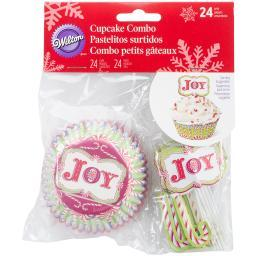Cupcake Combo Pack Makes 24-Candy Cane W5391